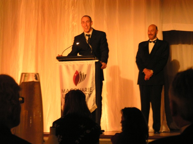 Accepting the 2009 Distinguished Service to the Marketing Industry Award
