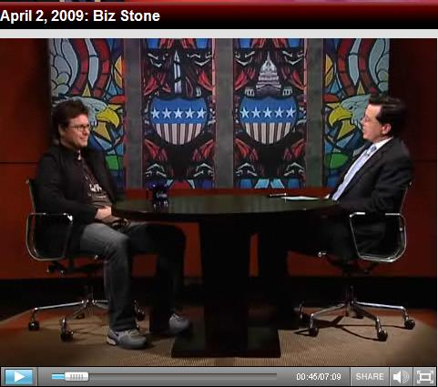 Stephen Colbert Interviews Biz Stone