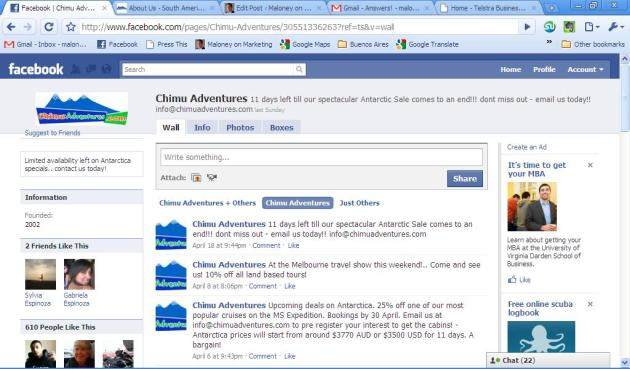 Chimu Adventures Facebook Page