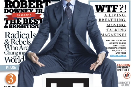 Esquire Augmented Reality Issue Featuring Robert Downey Jr