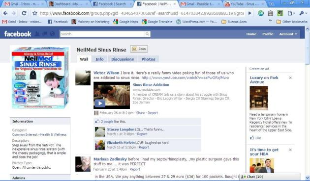 NeilMed Sinus Rinse Unofficial Facebook Page