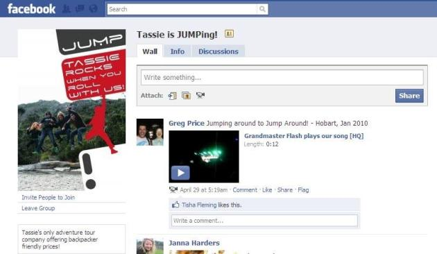 Tassie is Jumping - Jump Tours Facebook Page