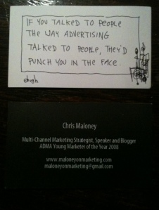 My Maloney on Marketing Street Cards