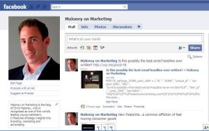 Maloney on Marketing Facebook Page - Become a fan!