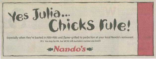 Nandos - Always the first on a news story