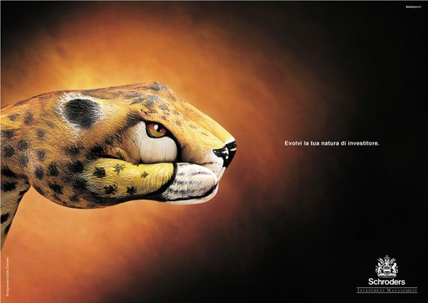 Schroders Painted Hand Campaign