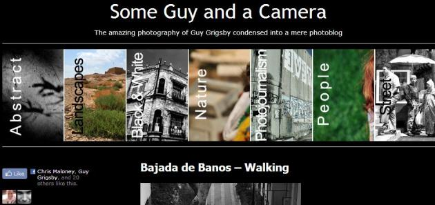 Some Guy and a Camera Home Page - Featuring Facebook Like Button