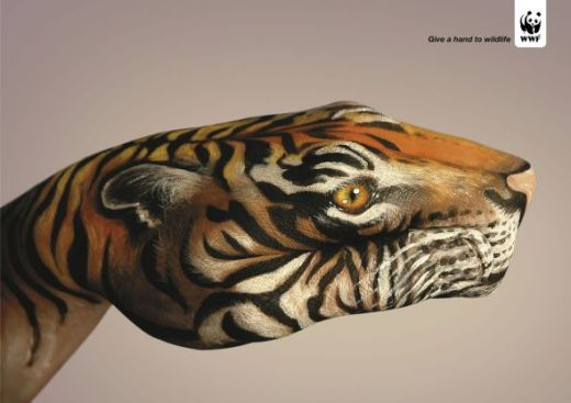 WWF Painted Hand Campaign