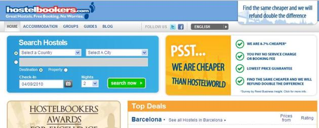 Hostel Bookers Home Page
