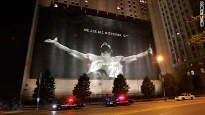 Lebron James Cleveland Poster Under Police Watch