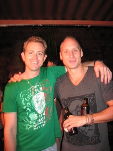 Todd and Gerard - Owners of the Art House Medellin