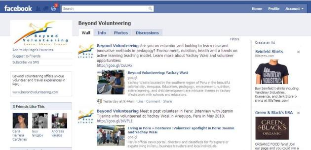 Beyond Volunteering Facebook