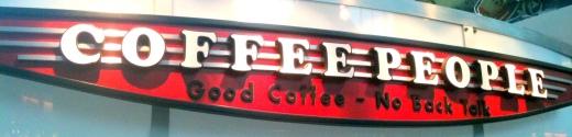 Coffee People - Good Coffee No Back Talk?