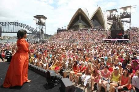 Oprah at Australian Opera House