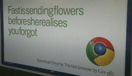 Google Chrome Outdoor Advertising