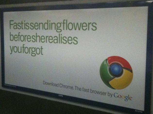 Google Chrome Outdoor Advertising