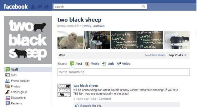 two black sheep on Facebook