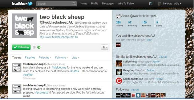 two black sheep on Twitter