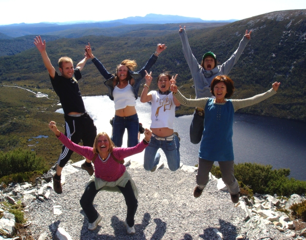 Jump Tours getting high at Cradle Mountain