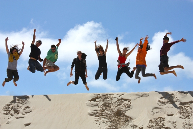Jump Tours in action at Henty Dunes on Tasmania's West Coast