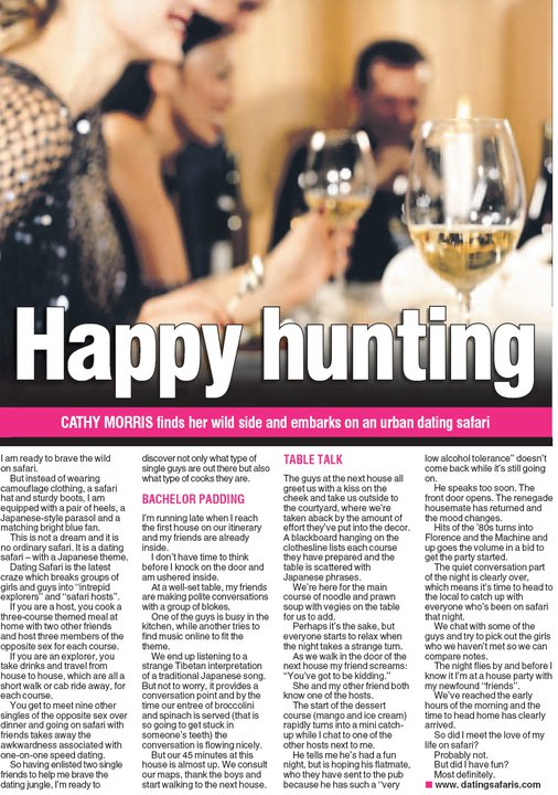 Dating Safaris article in MX